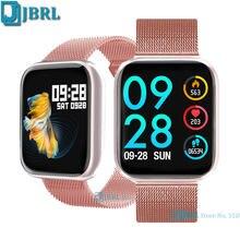 Akıllı saat P80 erkekler kadınlar Smartwatch spor izci nabız monitörü spor su geçirmez saatler Android IOS için kol saati saat