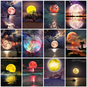 Evershine 5D DIY Diamond Painting Moon Full Square Diamond Embroidery Landscape Cross Stitch Mosaic Sale Home Decoration