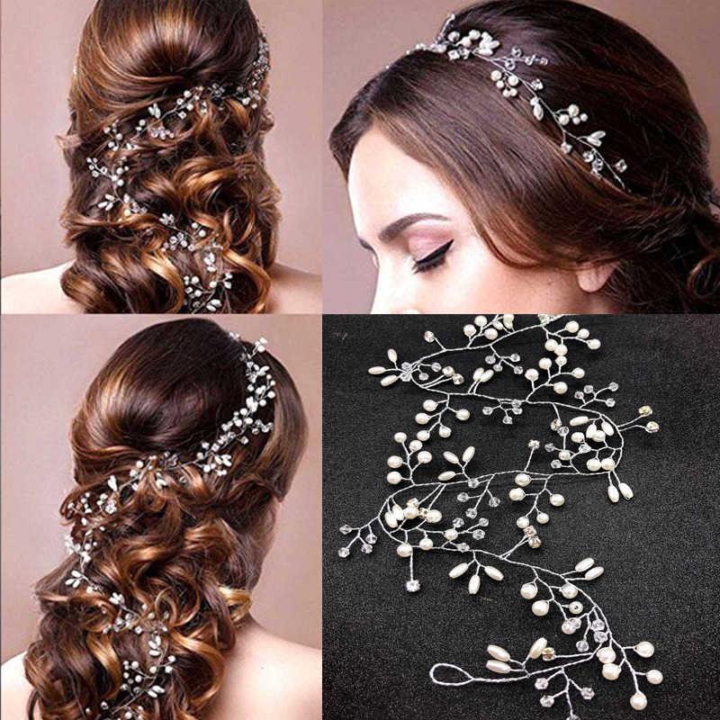 Moda Grampo de Cabelo Pérola para Acessórios de Cabelo Faixa de Cabelo Noiva Vestido de Noiva Elegante Faixa de Cabelo Vara Hairpin Acessórios Para O Cabelo