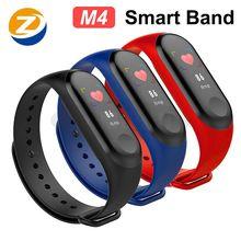 M4 inteligente pulseira de fitness rastreador relógio esporte pulseira freqüência cardíaca monitor pressão arterial saúde relógio smartband para android ios