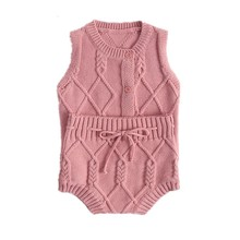 Baby Boy Sweater Cardigan+Shorts Baby Girls Vest Outerwear Infant Clothing Set 3 6 9 12 18 24 Month Baby Toddler Clothes 204023 cheap OMGosh COTTON Fashion O-Neck Single Breasted Sleeveless REGULAR Fits true to size take your normal size Worsted Jackets