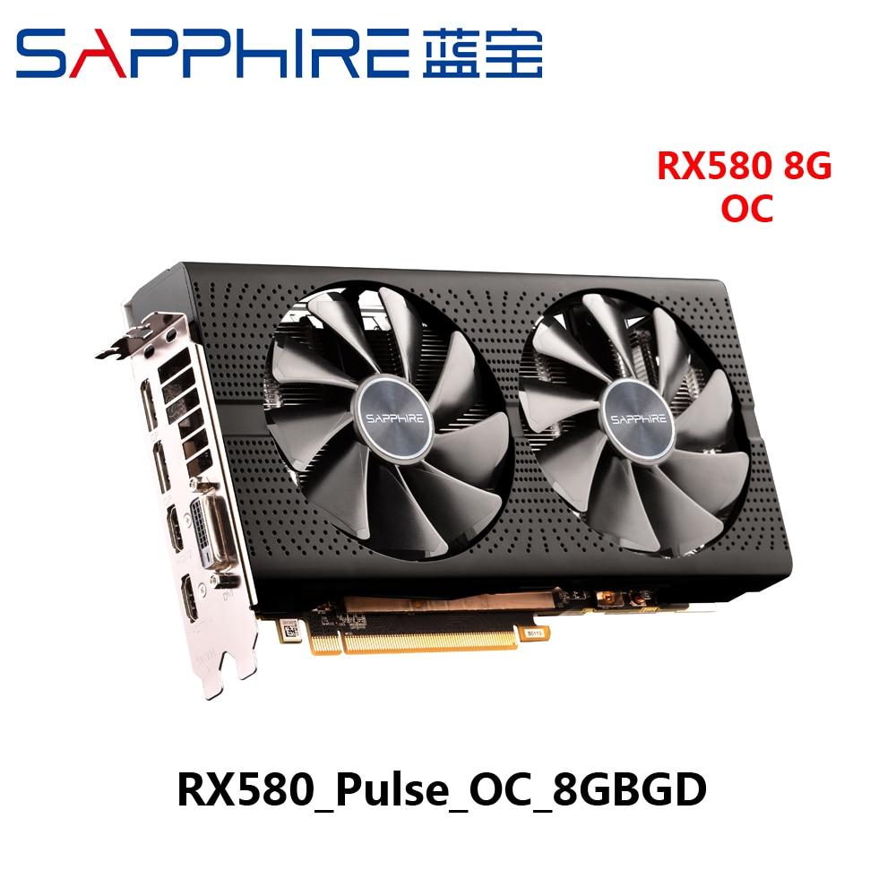 Used Sapphire RX580 8Gb 8g Rx 580 8 Gb D5 Platinum OC Game Gaming Desktop  Graphics Video Card