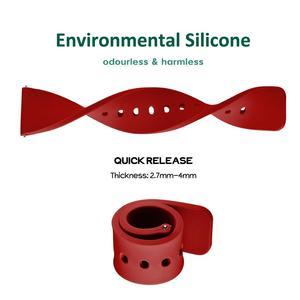 Image 2 - WOCCI סיליקון Ruber שעוני חכם רצועת לגברים נשים 14mm 18mm 20mm 22mm 24mm רחיץ 13 צבע ספורט רצועת השעון חג המולד מתנה