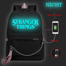 New casual luminous backpack ladies backpack, travel laptop girl with USB charging
