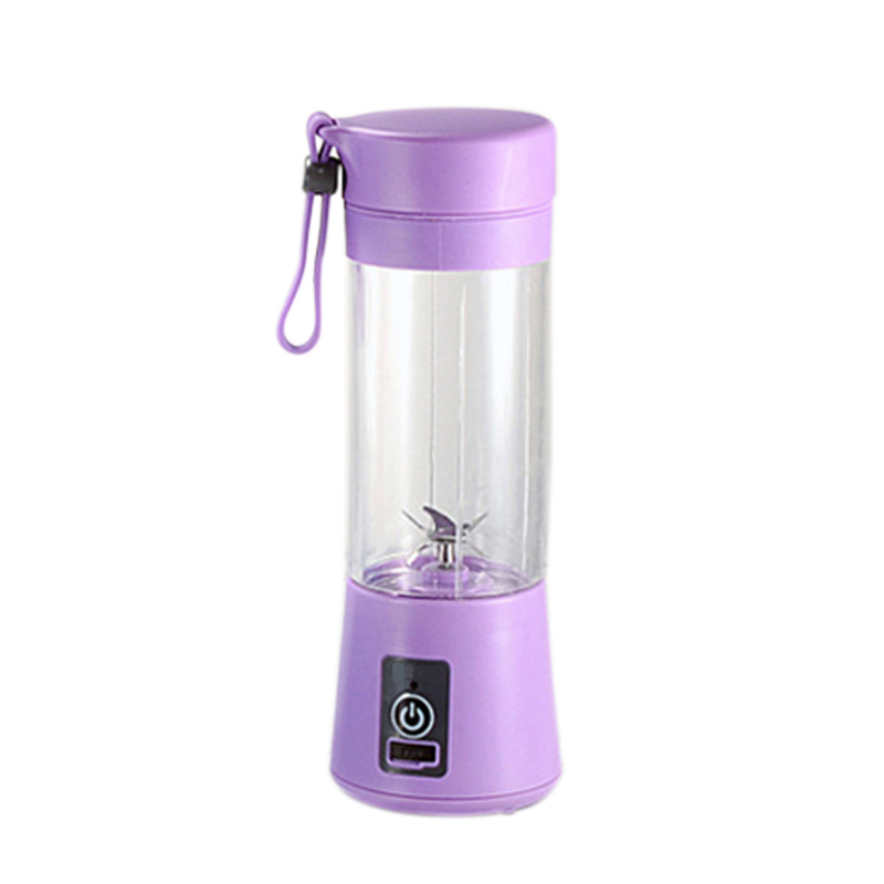 380Ml Mini Usb Rechargeable Portable Electric Fruit Juicer Smoothie Maker Blender Machine Sports Bottle 4 Sharp Blades Fruit Mix