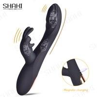 Dildo senza fili vibratore di coniglio bacchetta magica per donne stimolatore del clitoride massaggiatore ricaricabile USB merci giocattoli del sesso per adulti 18