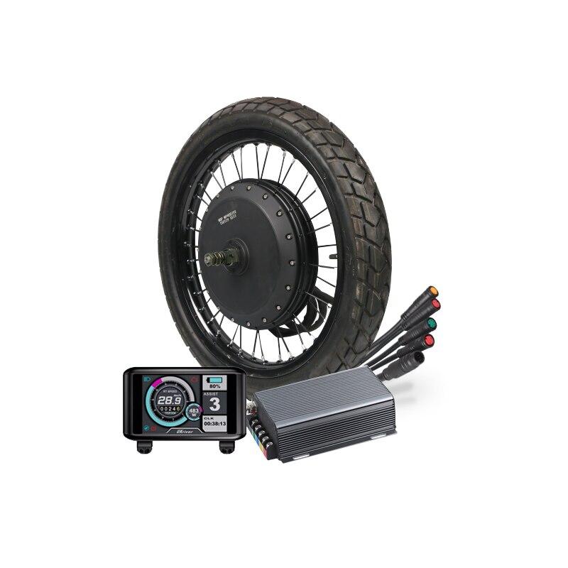 super power QS V3 48v-72v 8000W e bike kit motorcycle electric bike motor wheel with waterproof Sabovon controller TFT display