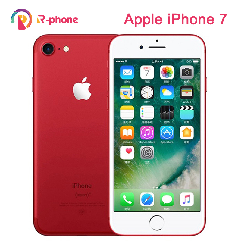 Original Apple iPhone 7 empreinte digitale 2GB RAM 32/128/256GB ROM iOS 4G LTE débloqué téléphone portable 12.0MP GPS Quad-Core téléphone portable