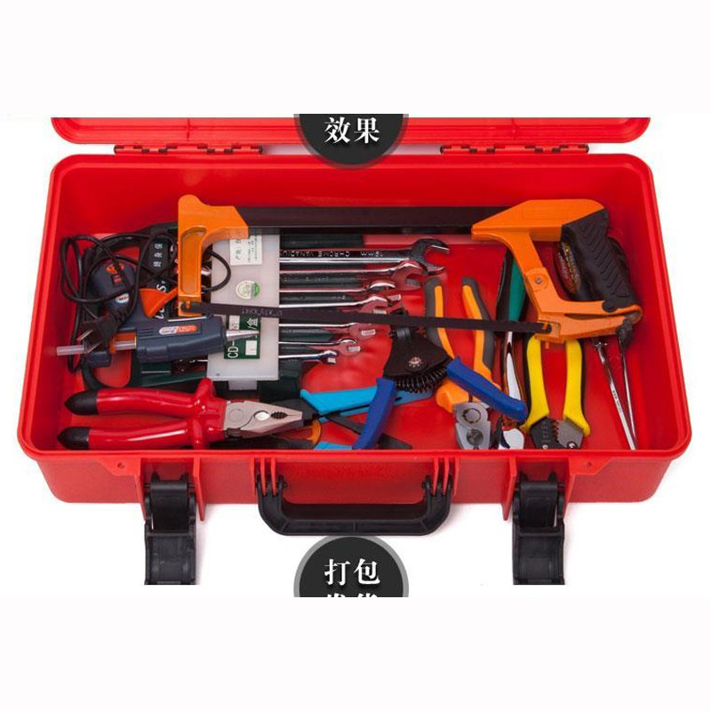 500x300x110mm ABS Valigia cassetta degli attrezzi Cassetta attrezzi - Portautensili - Fotografia 2