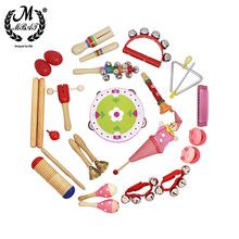 M MBAT 22Pcs Orff Percussion Instrument Rainbow Bell Drum Kids Gift Child Educational Toy Preschool Education With Storage Bag