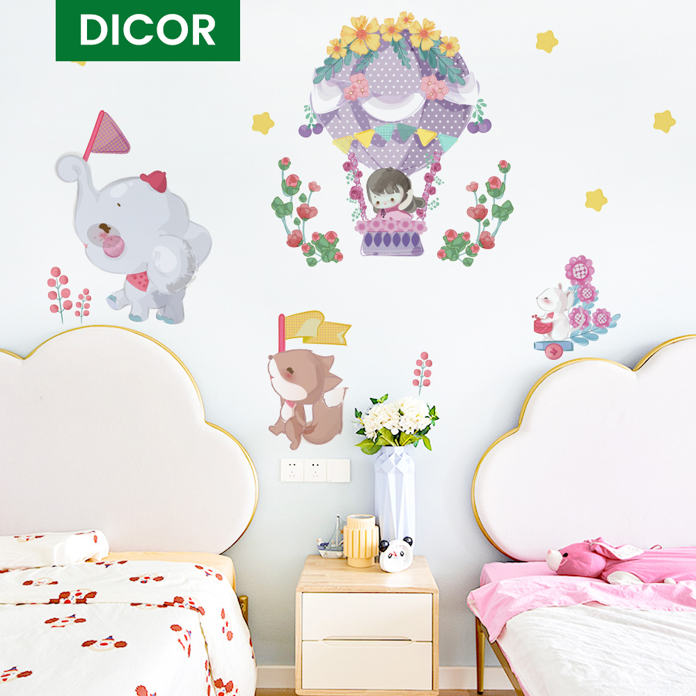 Room Decoration Animal Wall Stickers For Baby Rooms Wall Sticker Bedroom Decoration Home Decoration Accessories For Living Room Wall Stickers Aliexpress