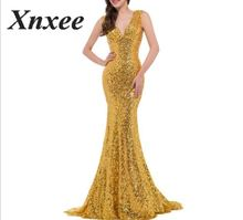 Xnxee 2020 Vestidos Sexy Solid Yellow V-Neck Backless Long Dress Women Winter Dresses Fashion Party Dress Vestido De Fiesta alagirls sexy backless mermaid prom dresses 2019 v neck evening dress vestido de fiesta formal party dress vestido de noche