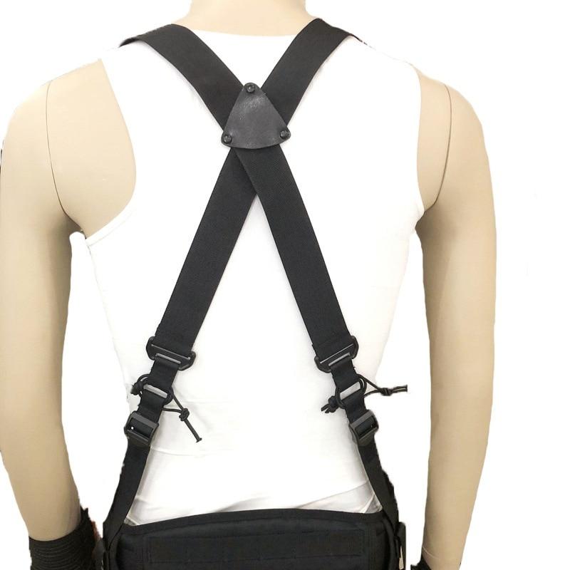 Hot Adjustable Multi-function Tactical Duty Belt Outdoor X-type Suspenders For Duty Belt Harness Combat Belt Strape