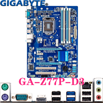 GIGABYTE GA-Z77P-D3 For LGA1155 Intel Core 2th/3th i3/i5/i7/Xeon/Pentium/Celeron HDMI LGA-1155 Z77 ATX Desktop PC Motherboard b75 lga 1155 motherboard socket lga1155 ddr3 32gb sata 3 0 usb3 0 dual channel for intel i3 i5 i7 xeon not ddr4 not m 2