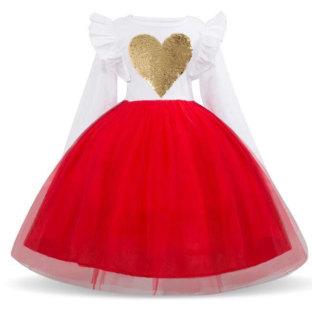 My Unicorn Heart Dress for Girls Rainbow Long Sleeve Girls Clothing  Kid Costume Christmas New Year  Unicorn Dress Vestido Black Tulle