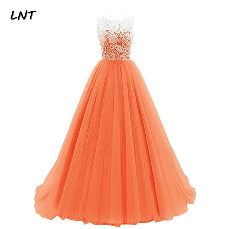 Real Photos Long Formal Prom Dresses With Lace Bodice Floor Length Simple Evening Gown