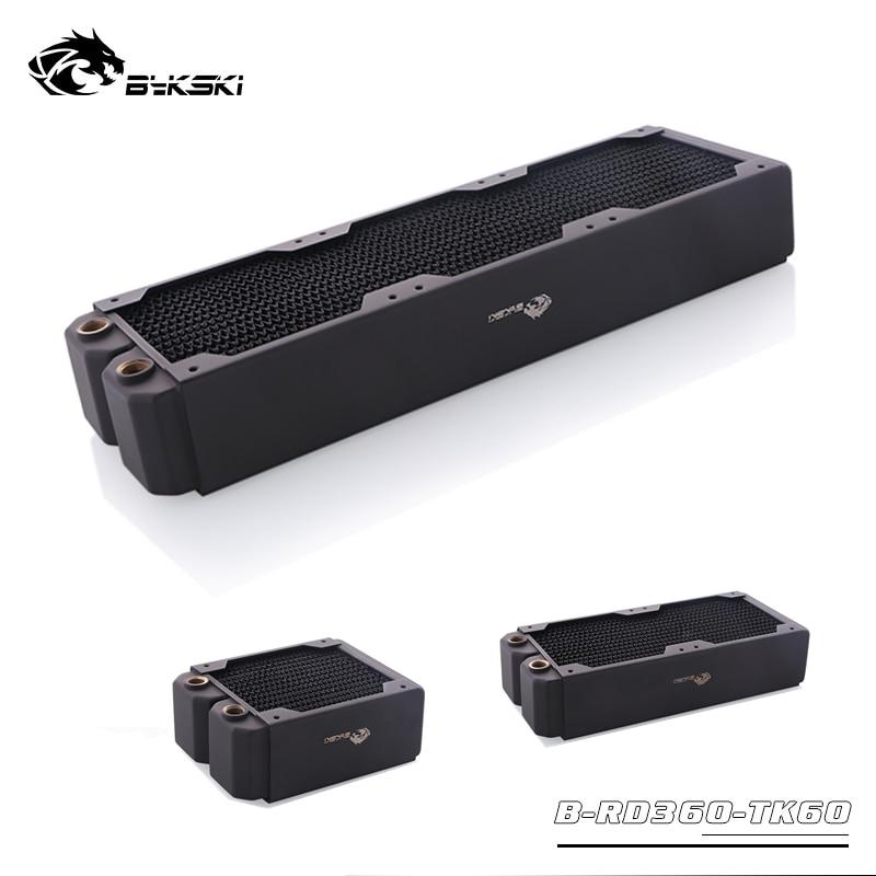 Bykski Water Cooling Copper Heatsink Case Cold Row Radiator 60mm  Thickness For 120*120mm Fans B RD120/240/360 TK60Fans