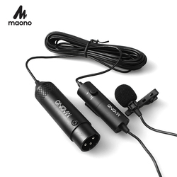 MAONO Lavalier Microphone XLR Omnidirectional Condenser Microphone Clip-on Lapel Mic For DSLR Camera Camcorders Voice Recorders