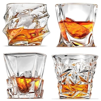 2 Pcs/lot Clear Crystal Whiskey Glass Glassware for Whiskey Beer Drinking Cup Wine Glass 100-300ml DDC-49 фото