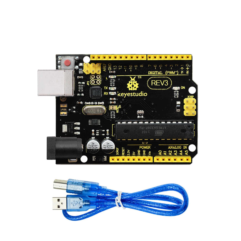 Arduino uno R3 Rev3 Atmega 328P Cable USB compatible board y pins
