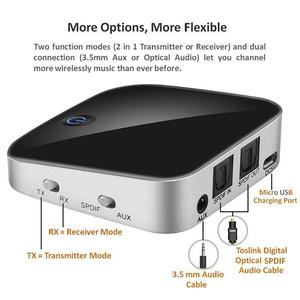 Image 2 - 2 IN 1 BTI 029 Bluetooth 5.0 Audio Transmitter Receiver 3.5mm AUX SPDIF Wireless Bluetooth Adapter for Car and TV/PC