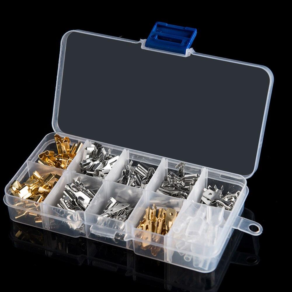 Car accessories 150 PCs boxed 6.3 copper terminal connector sheath cold-pressed nose