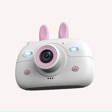 18MP 2,4 дюймов детская мини-камера с цифровым двойным объективом HD камера для фото-видео TF карта Поддержка маленьких зеркальных фотокамер подарки для детей на день рождения