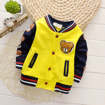 Spring Autumn Baby Outwear Boys Coat Children Girls Clothes Kids Baseball Infant Sweatershirt Toddler Fashion Brand Jacket SUIT