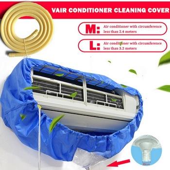 Pokrywa klimatyzatora do mycia do montażu na ścianie klimatyzacji do czyszczenia przeciwpyłowe pokrowiec na worek do odkurzacza zaostrzenie pas tanie i dobre opinie CN (pochodzenie) 100 poliester W jednym kolorze Nowoczesne ADC1448 M(for1-1 5P) L(for2-3P) Blue Air conditioner wash cover
