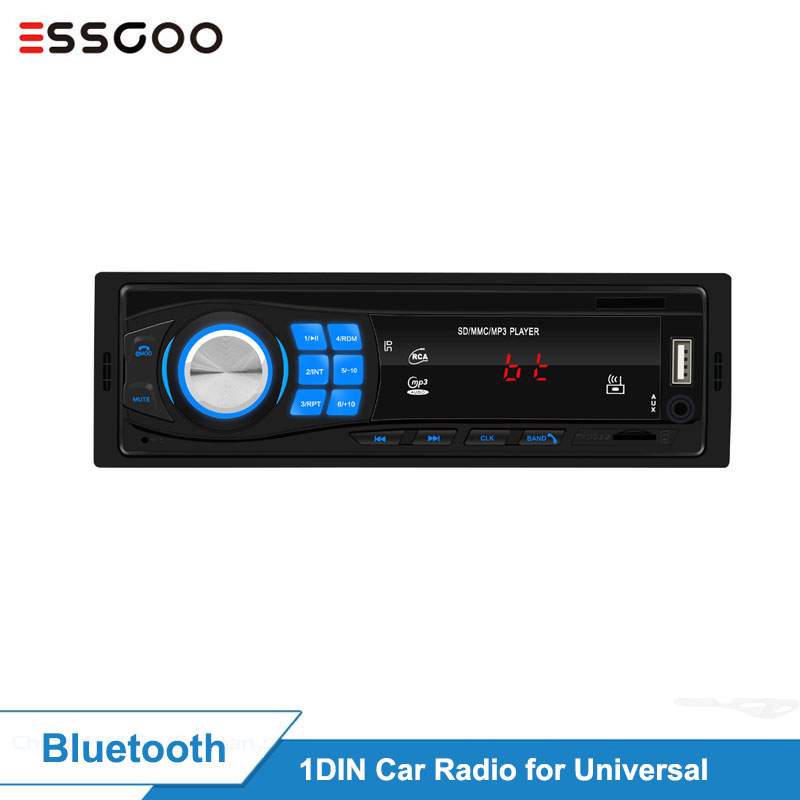 Essgoo Car Radio 1 Din Bluetooth Car Stereo In-dash FM Aux Input Mp3 USB WMA AUX IN FM Car Player 32GB TF Card Optional 1din