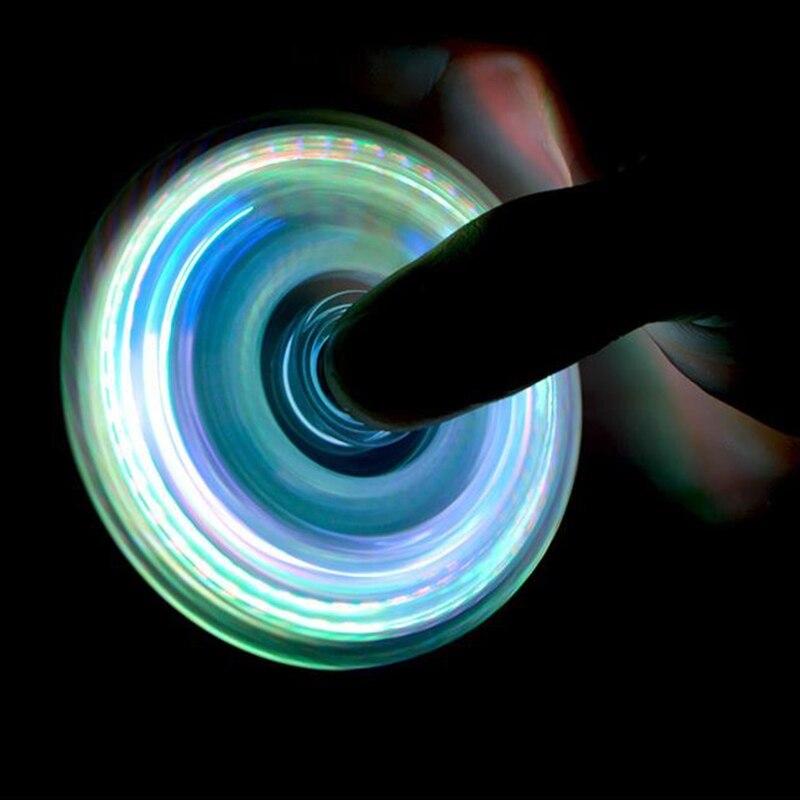 New LED Light Fidget Spinner,Rainbow Fidget Toy Light Finger Hand Spinner img3