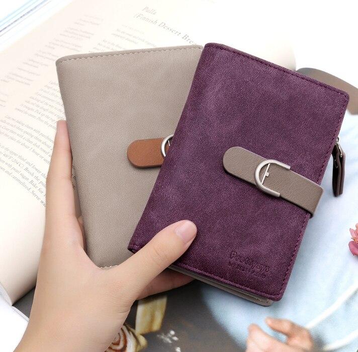 Новейший женский кожаный винтажный кошелек, брендовый дизайнерский кошелек на молнии для монет, кошельки, держатель для карт, клатч для девочек