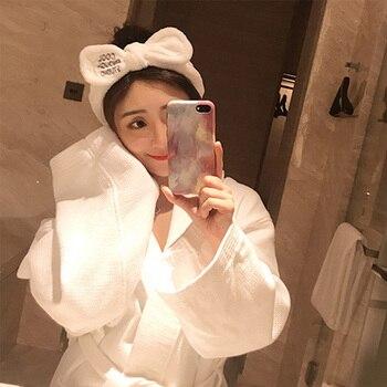 Wash Face Hair Holder Hairbands Soft Warm Coral Fleece Bow Animal Ears Headband For Women Girls Turban Fashion Hair Accessories 2