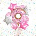 10 шт. пончик шар с алюминиевой пленкой комбинации Детский наряд для дня Рождения вечерние украшения пятиконечная звезда волна точка латекс...