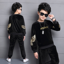 2019 New Autumn childrens clothing sets boys long sleeve eagle print t shirt + pants 2pcs set DX03089