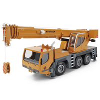 High quality 1:50 wheel heavy duty crane alloy model,simulation metal sliding engineering toy car,educational gift,free shipping