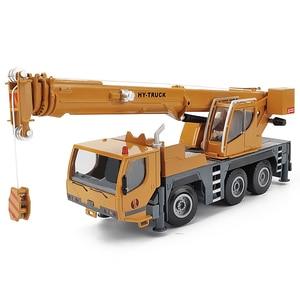 Image 1 - Modelo de aleación de grúa de alta calidad 1:50 rueda pesada, coche de juguete de ingeniería deslizante de metal de simulación, regalo educativo, envío Gratis