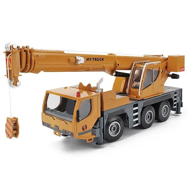 Modelo de aleación de grúa de alta calidad 1:50 rueda pesada, coche de juguete de ingeniería deslizante de metal de simulación, regalo educativo, envío Gratis
