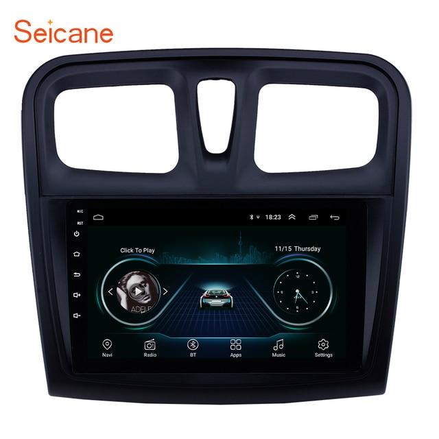 """Seicane reproductor Multimedia para coche Renault Sandero, 2Din, 9 """", Android 9,1, GPS para coche, reproductor Multimedia para 2012, 2013, 2014, 2015, 2016, 2017"""