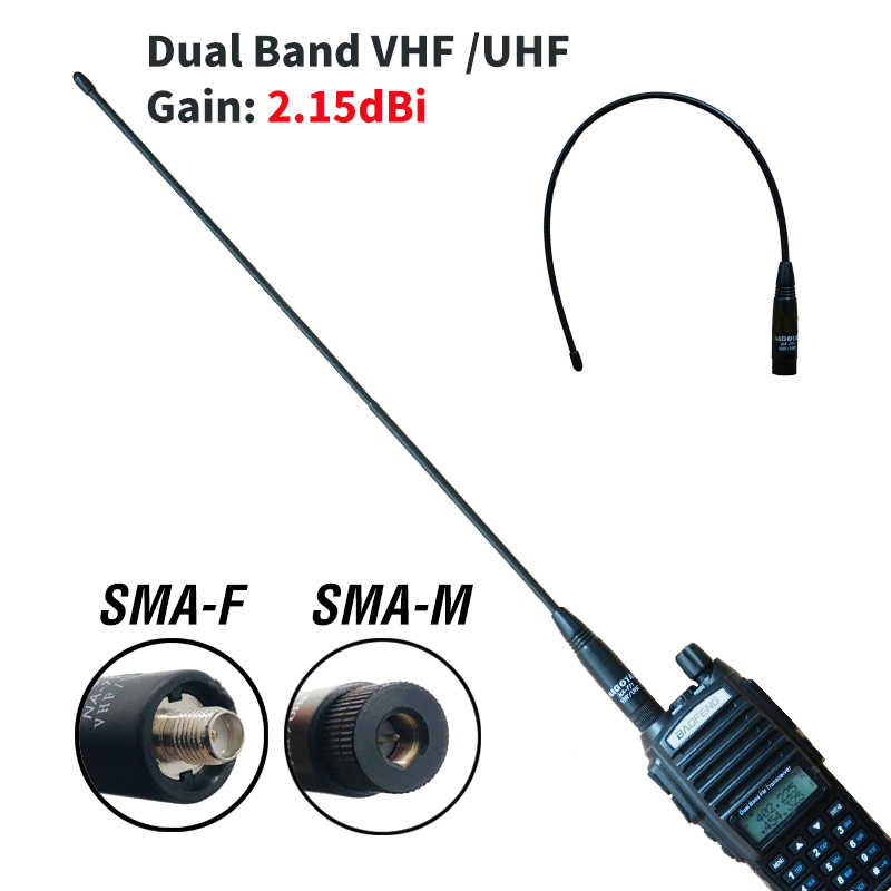 10W SMA-M Nagoya NA-771 Originele Antenne Voor Baofeng UV-3R UV-100 UV-200 Walkie Talkie Dual Band Vhf/Uhf Gain sma Male Antenne