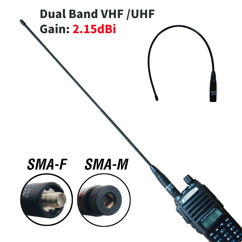 10W SMA-M Nagoya NA-771 Original Antenna For Baofeng UV-3R UV-100 UV-200 Walkie Talkie Dual Band VHF/UHF Gain SMA Male Antenna