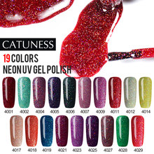 CATUNESS Neon Nail Gel Polish Vernis voor Manicure Lucky Lak Nail Gel Sequin Sterrenhemel Glitter Semi Permanant Uv(China)