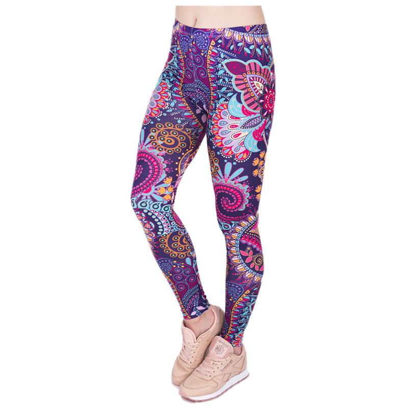 Hizilent 2019 Summer Europe And America Leggings AliExpress New Style 3D Printed Yoga Pants WOMEN'S Dress