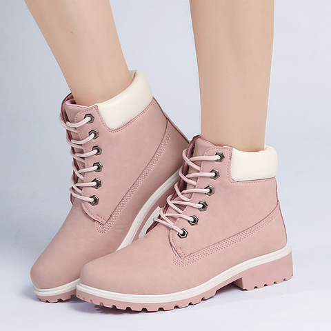Shoes women snow boots 2019 fashion winter boots women shoes lace-up winter ankle boots women sneakers shoes woman Lahore