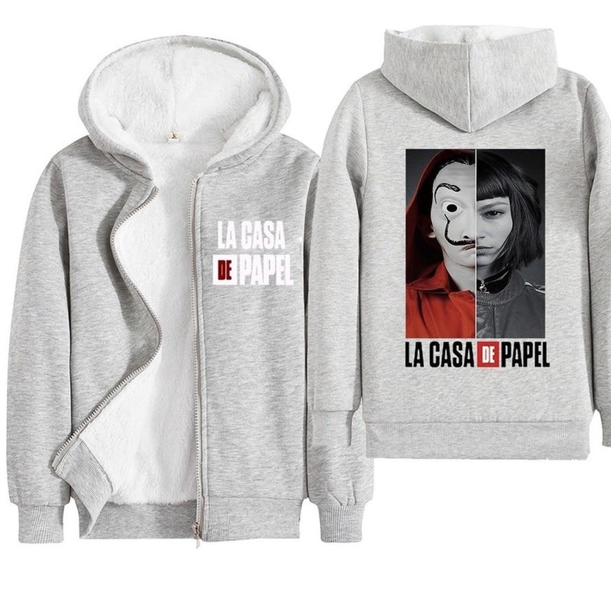 kids boys girls warm jacket hooded jacket plus velvet children's cotton coat autumn winter outwear infantil money heist Clothing