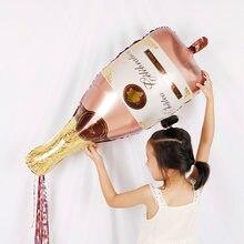 1pc rosa ouro champanhe garrafa de vinho mylar balões festa decorações kit dia dos namorados chuveiro de noiva casamento brinquedos de solteira