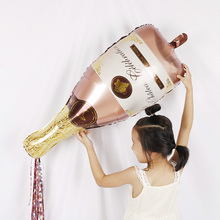 Rose Gold Champagne Bottle Wine Mylar Balloons Party Decoration Kit Valentine #8217 s Day Bridal Shower Wedding Bachelorette cheap i BALON Aluminium Foil House Moving Retirement Earth Day Thanksgiving St Patrick s Day April Fool s Day Chinese New Year