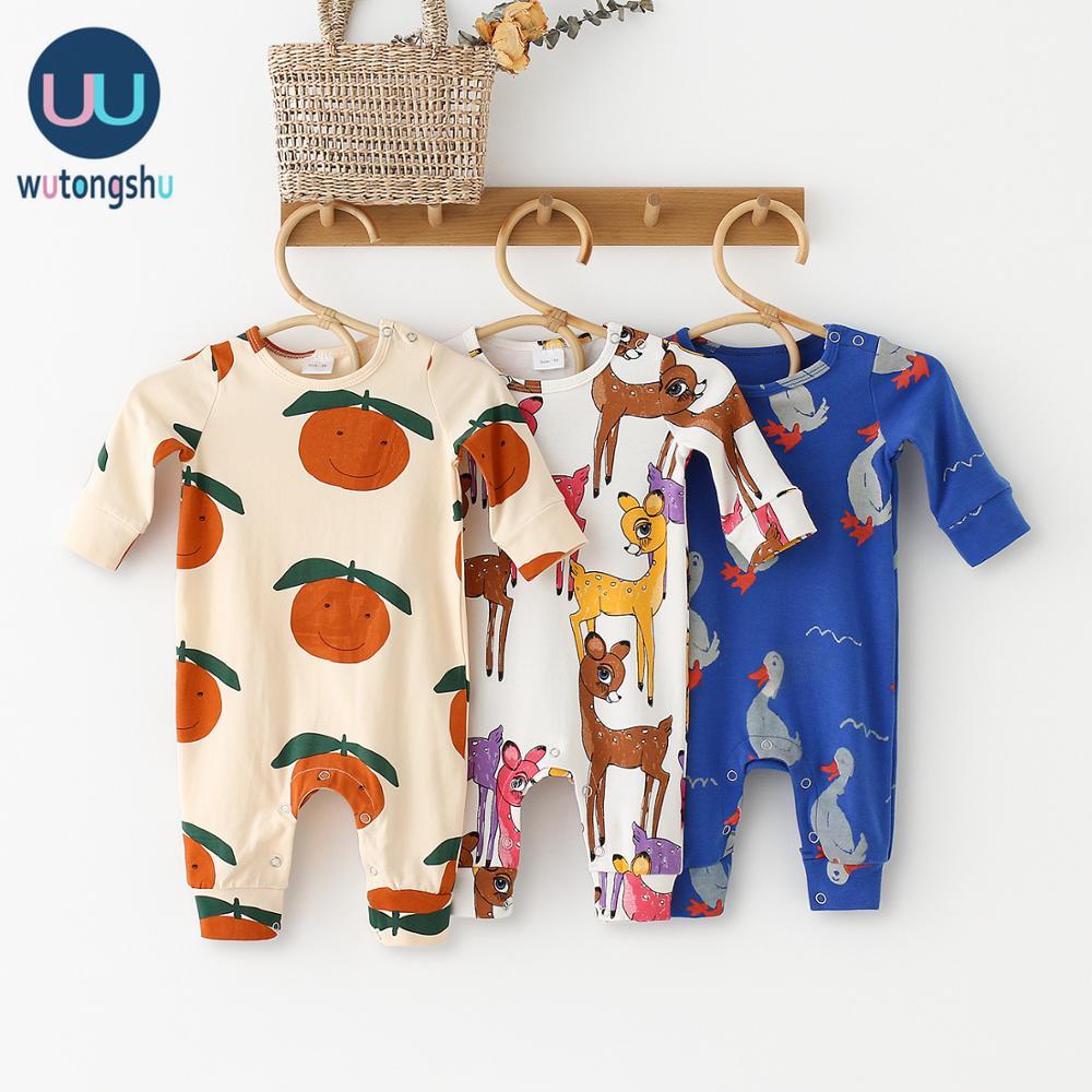 Детские комбинезоны с длинными рукавами из 100% хлопка и льна; Одежда для новорожденных девочек с принтом; Цельнокроеная Одежда для маленьких мальчиков; Детские комбинезоны|Ромперы|   | АлиЭкспресс