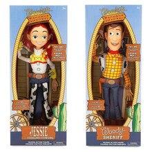 16 disney disney disney pixar brinquedo história 4 puxar corda falando woody jessie buzz lightyear boneca figura de ação brinquedo para crianças presente natal