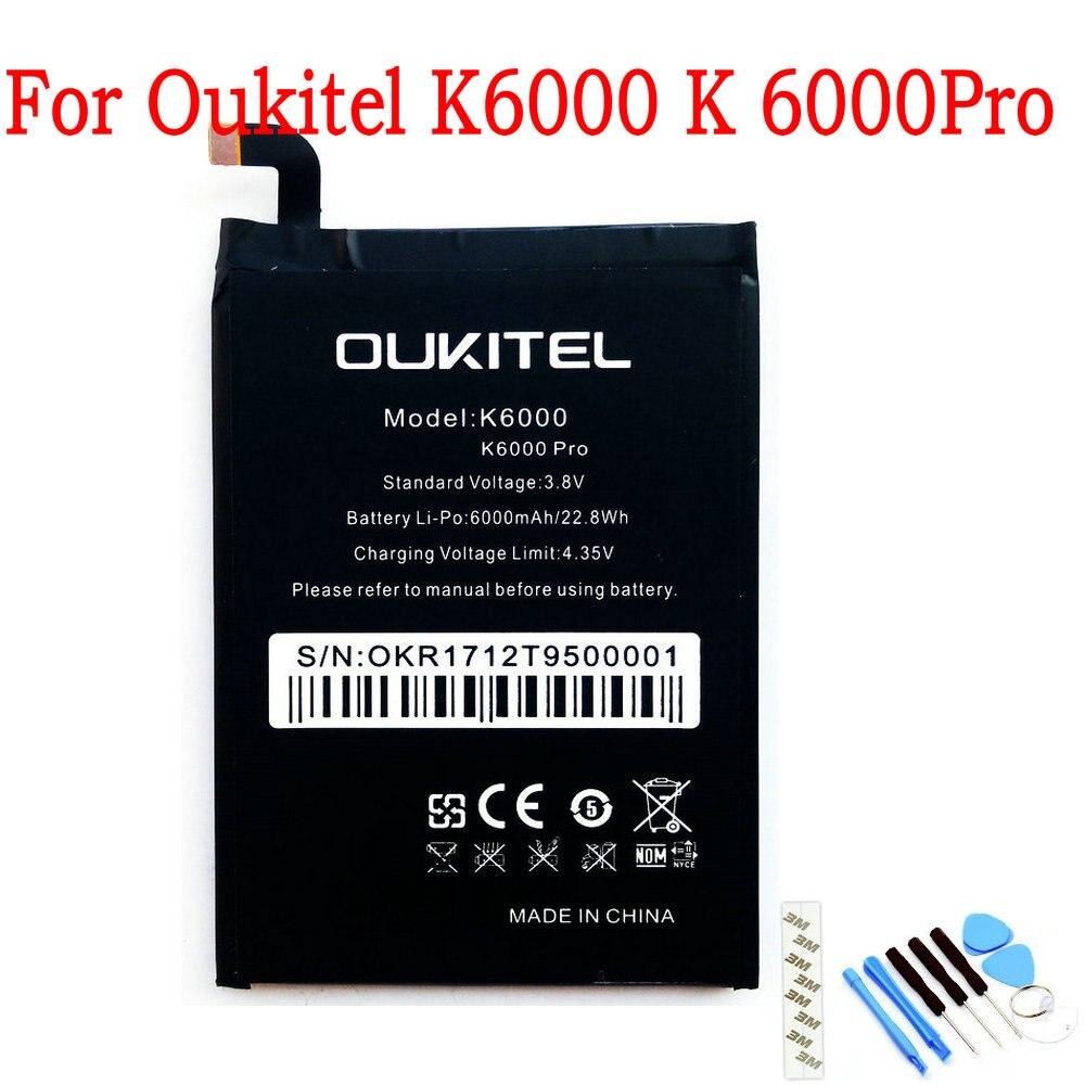 NEW Original 6000mAh battery For Oukitel K6000 K 6000 Pro Mobile phone(China)